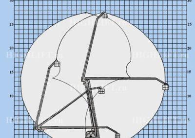 Схема коленчатой автовышки 28 м КамАЗ