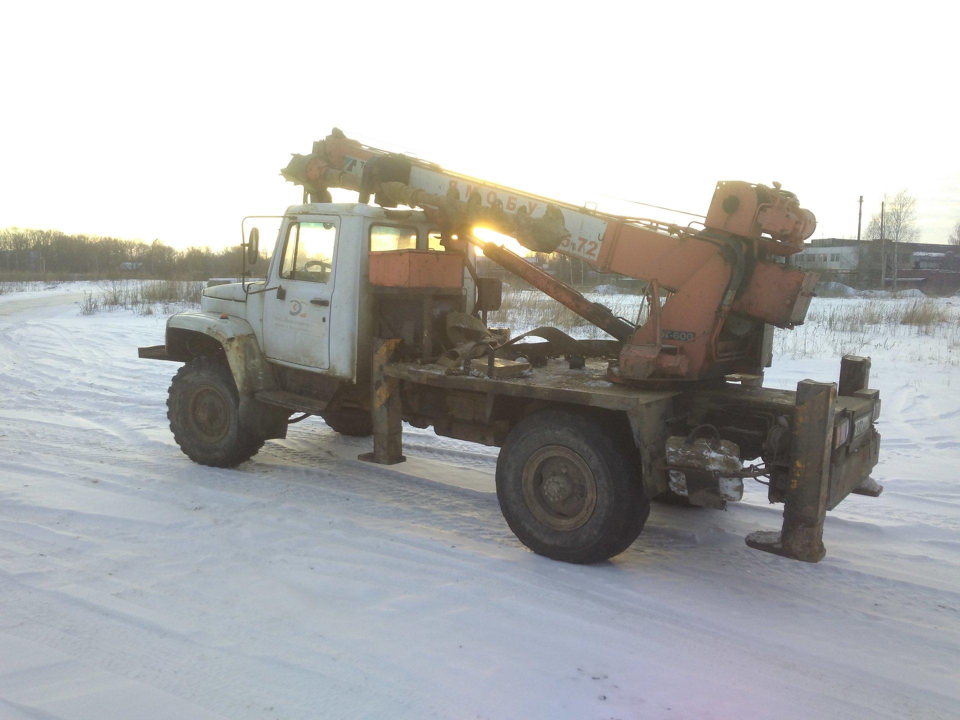 Аренда автобуровой ГАЗ 3308 в Ярославле, глубина бурения до 14м, диаметр до 1200 мм