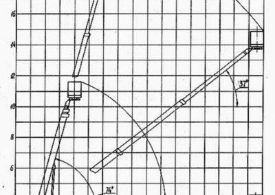 Схема автовышки вездехода УРАЛ ПСС 22 метра