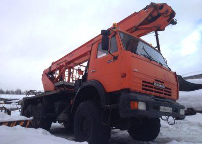 Аренда комбинированной автовышки вездехода 28 метров ПСС 141.28Э в Ярославле