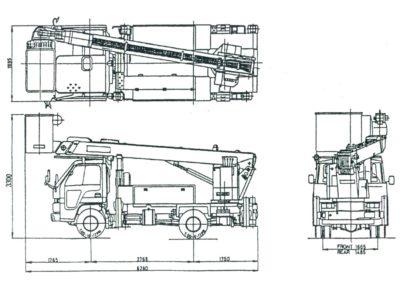 Заказать маленькую японскую автовышку 16 метров  Aichi SH140 в Ярославле